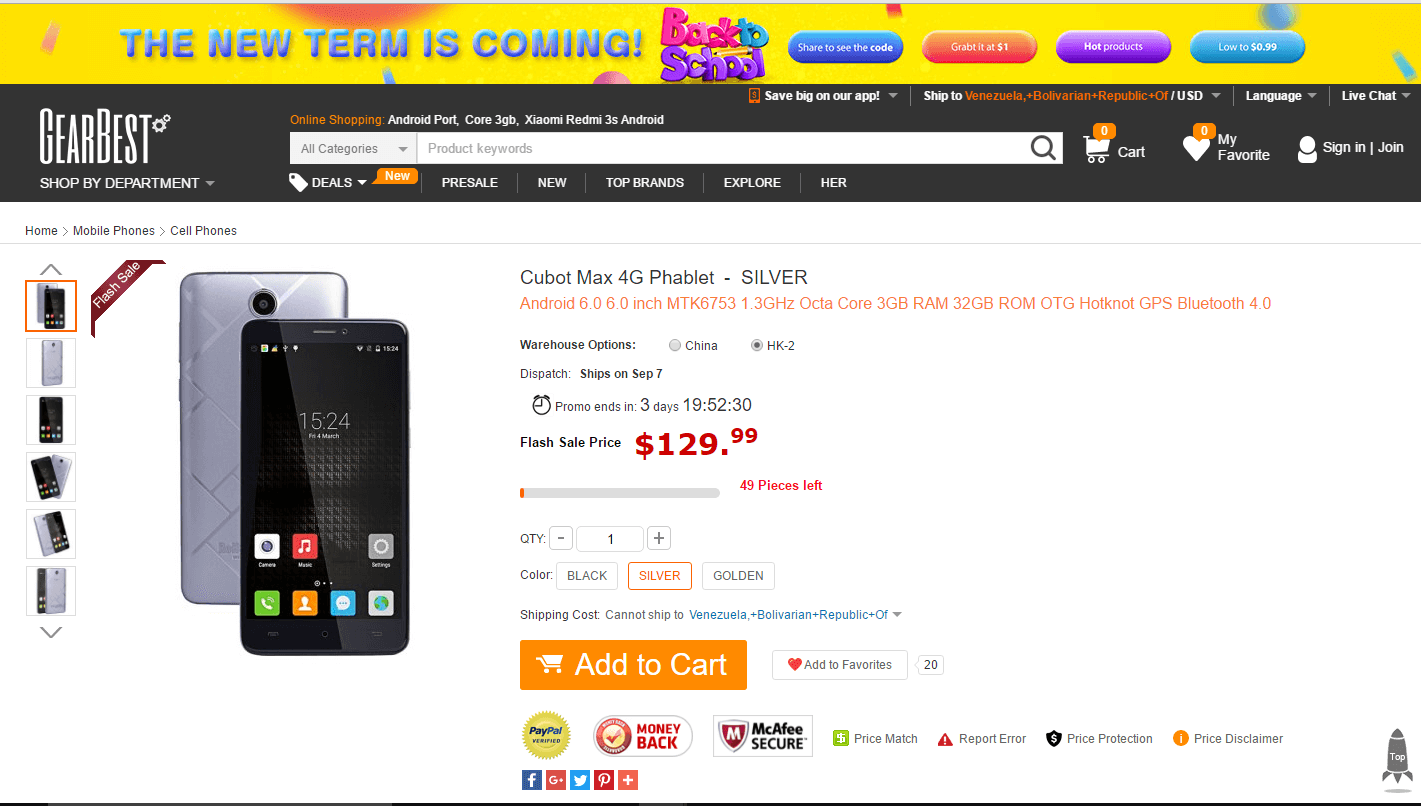 El Cubot Max disponible en GearBest