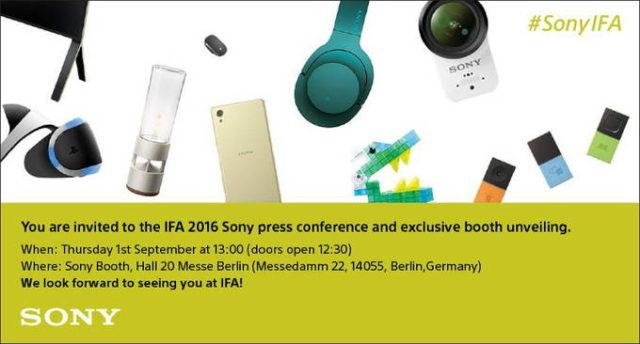 IFA 2016 Sony