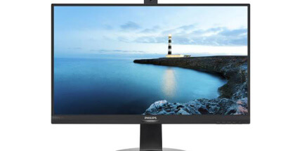 Monitor Philips con cámara web emergente