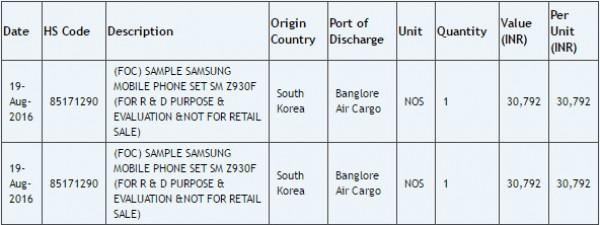Documento filtrado del Samsung Z9