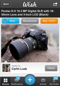 Comprar en Wish una cámara