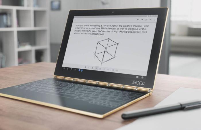 Lenovo Yoga Book, el tablet 2 en 1 con teclado táctil y bolígrafo de tinta real