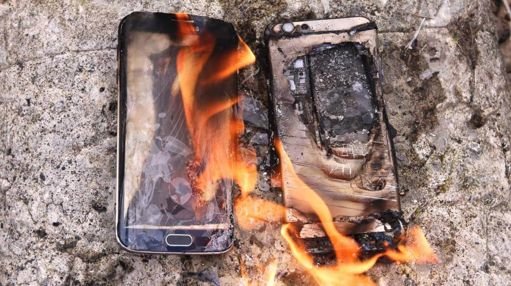 Galaxy Note 7 explota