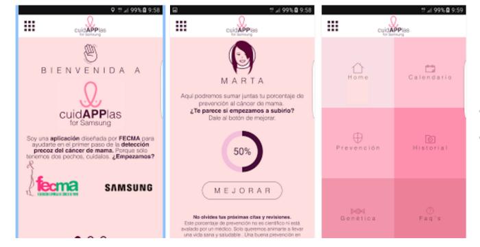 CuidAPPlas, una aplicación para la detección precoz del cáncer de mama