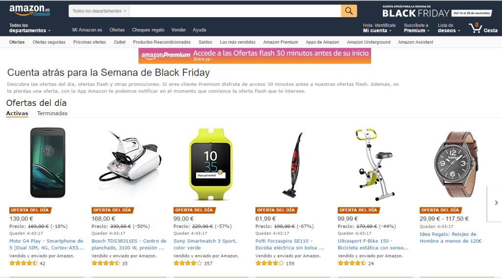 Ofertas de Black Friday en Amazon.es