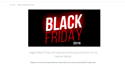 Mejores ofertas de Black Friday en Apple