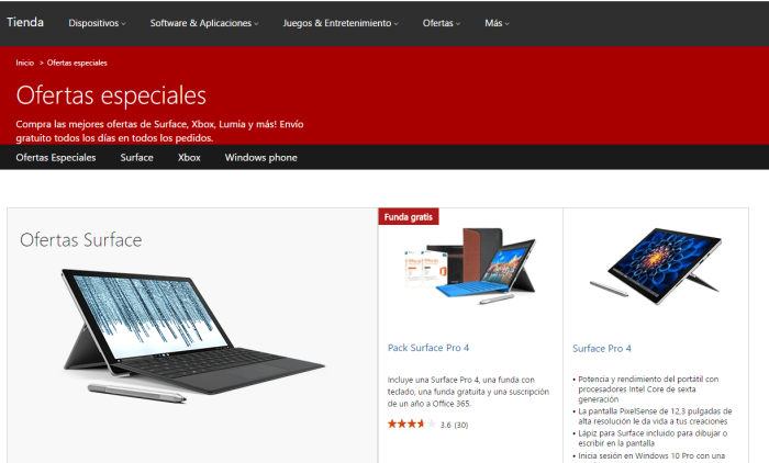 Microsoft se suma a las ofertas de Black Friday