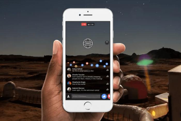 Nuevas funciones para los videos en directo en 360° de Facebook