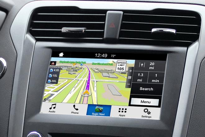 Sygic de Ford, primera aplicación de navegación de un móvil en la pantalla del coche