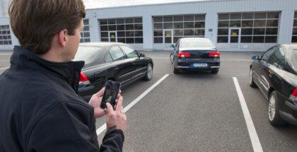 Aparcar el coche desde el móvil