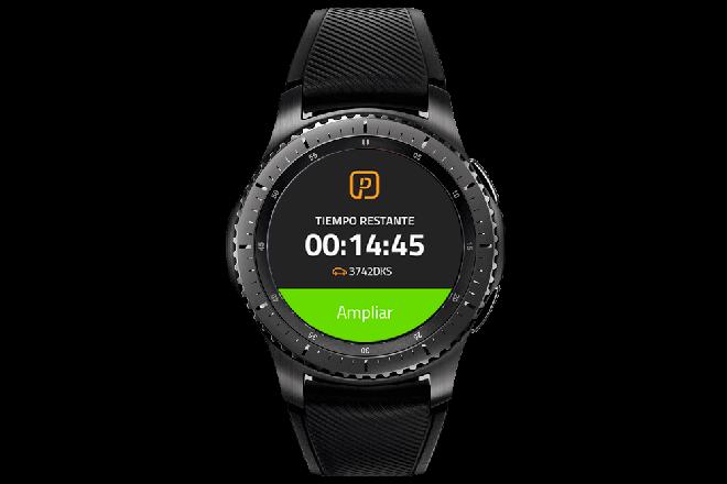Pagar el parking desde los smartwatches de Samsung es posible con la app de Telpark