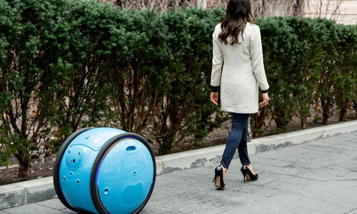 Este robot te sigue y lleva las bolsas de la compra