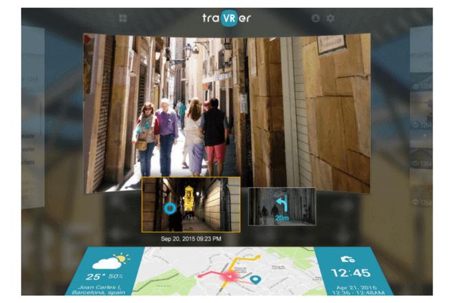 Toda una experiencia sensorial TraVer, una de las aplicaciones de realidad virtual y aumentada de Samsung