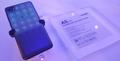 alcatel a5 led carcasa luz