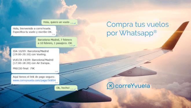 CorreYvuela permite comprar boletos aéreos por un chatbot