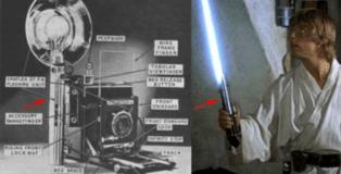 De una cámara fotográfica antigua fue creado el sable láser de Star Wars