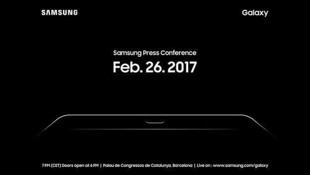 Invitación Samsung MWC 2017