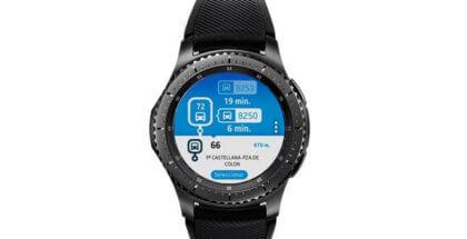 App EMT Madrid junto al Samsung Gear S3 y S2