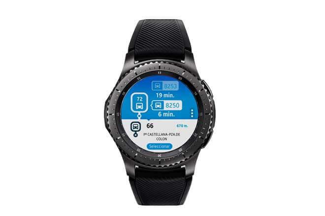 Con el Samsung Gear S2 o S3 y la app EMT Madrid puedes saber cuándo llega el siguiente autobús
