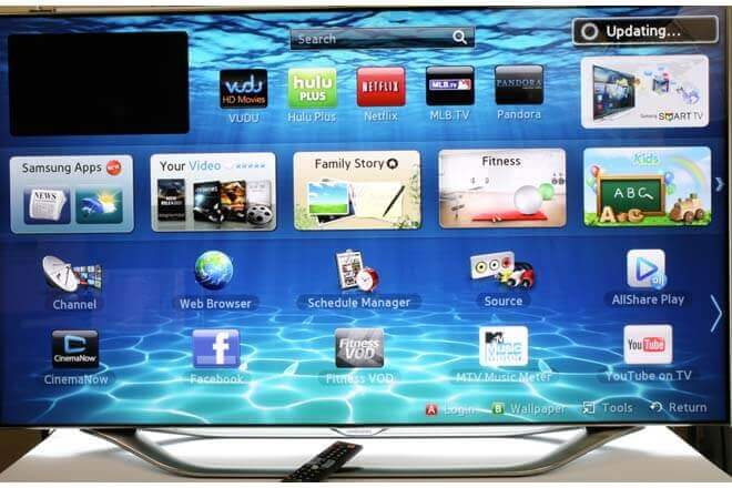 App de videos de Facebook en Samsung Smart TV