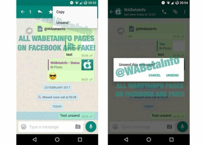 Borrar los mensajes enviados en WhatsApp está más cerca
