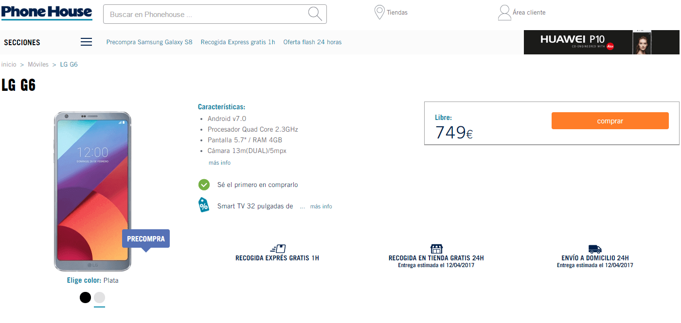 Comprar el LG G6 en Phone House