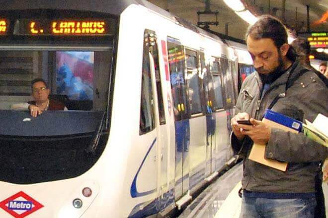 Cobertura en el Metro de Madrid