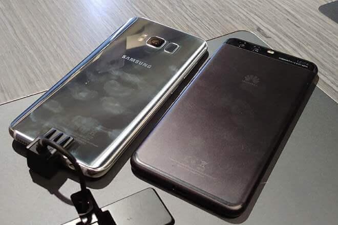Diseño y cámaras del Samsung Galaxy S8 vs Huawei P10