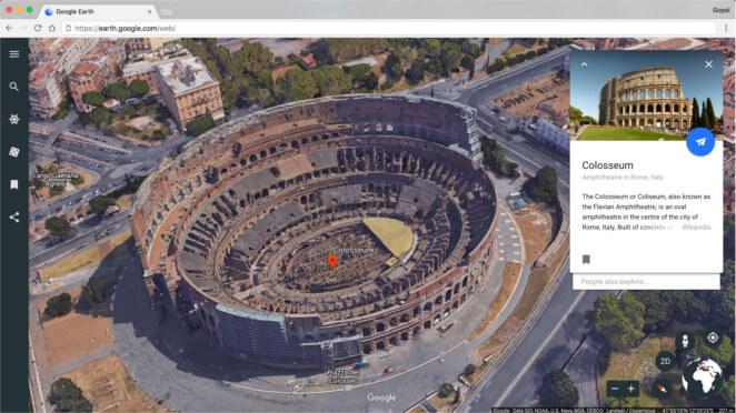 Google Earth te permitirá visitar de manera online distintos lugares del mundo