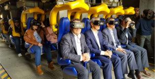 Montaña rusa de realidad virtual