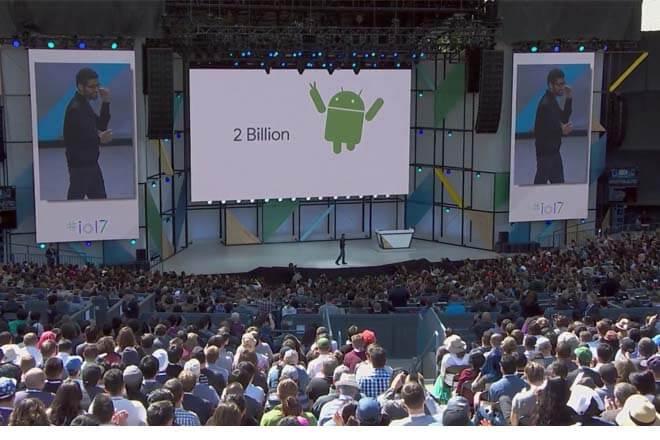 Anuncios durante la Google IO 2017