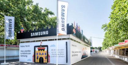 stand de Samsung en la feria del libro