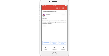 Gmail Smart Reply está disponible en Gmail y Allo