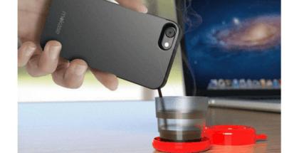 Italianos crean carcasa para tu móvil que prepara café