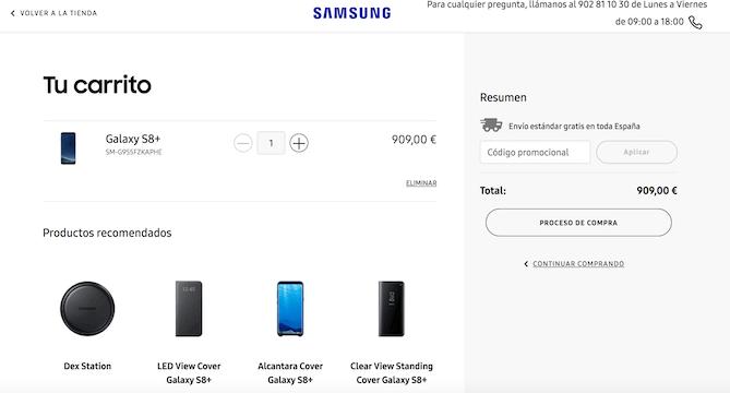 ofertas para comprar galaxy s8 a plazos