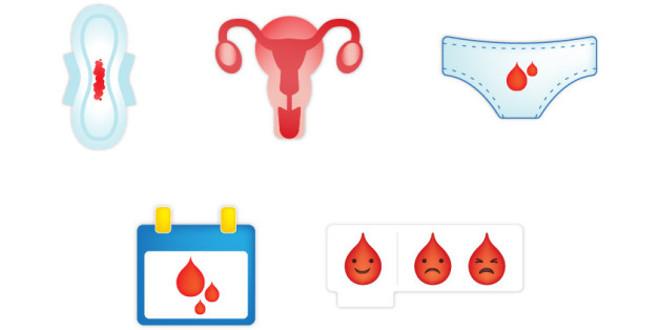 emoji para representar la menstruación