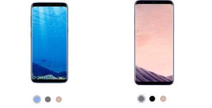tres nuevos colores del Galaxy S8