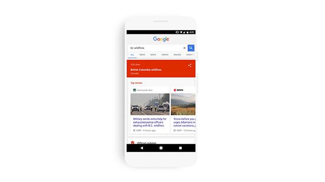 Alertas SOS de Google