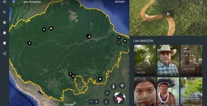 Descubre la Amazonia con Google Earth