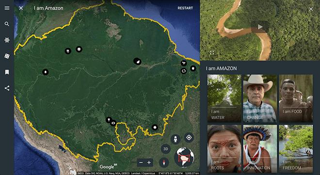 Descubre la Amazonia con Google Earth