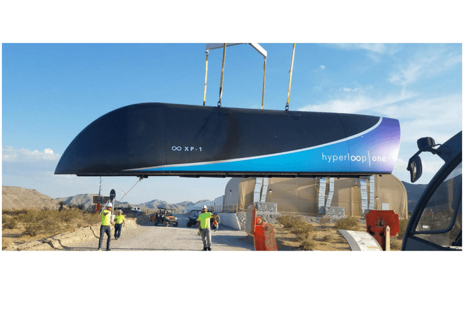 Muestran prueba de Hyperloop One dentro de un tubo vacio