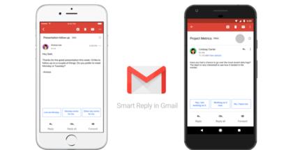 Smart Reply ya está disponible en Gmail para Android e iOS