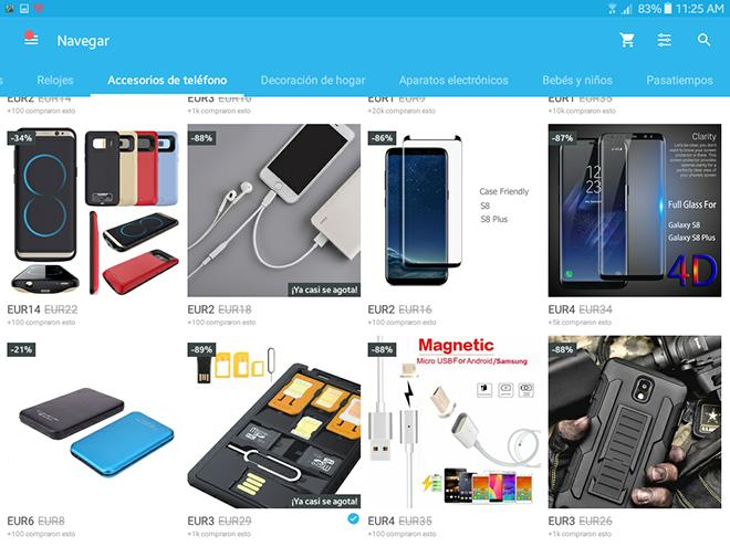 Exploramos la categoría que deseemos y elegimos el producto a comprar.