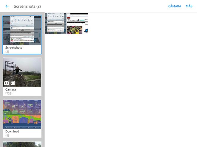 Luego de la notificación, debemos ir a la galería para localizar la captura de pantalla que acabamos de realizar. Normalmente éstas se ubican en una carpeta llamada Screenshots o Capturas de Pantalla.