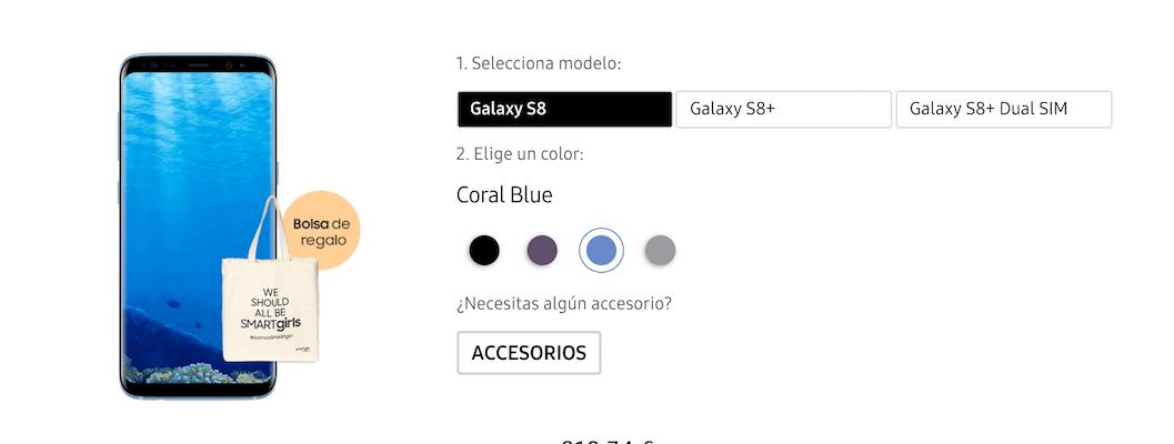Comprar el Galaxy S8 Azul coral es posible en España