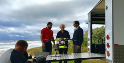 drones detecta tiburones en las playas de Australia