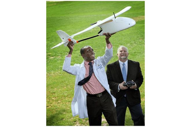 Los drones para transportar sangre