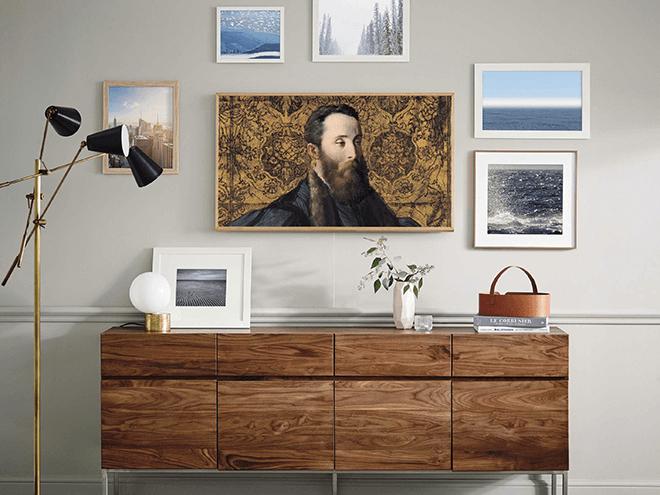 the frame y serif tv 2019 las teles de samsung en el ces. Black Bedroom Furniture Sets. Home Design Ideas