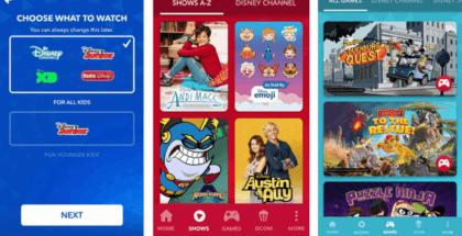 DisneyNow está pensado para los usuarios con edades comprendidas entre 2 y 14 años
