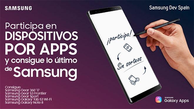 Dispositivos por apps: Gana un Galaxy Note8 al desarrollar aplicaciones para Samsung